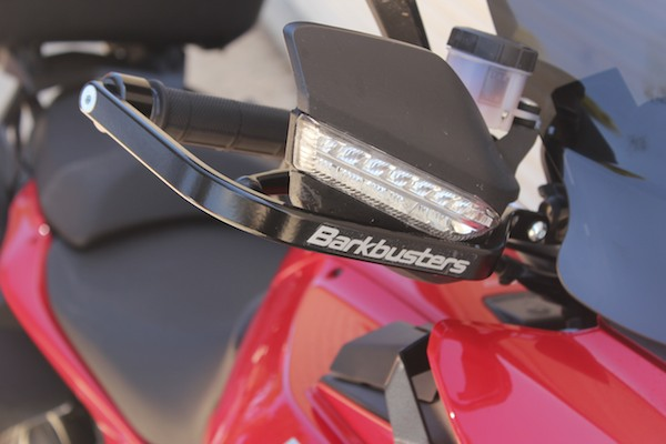 Ducati Multistrada with Barkbusters fitted