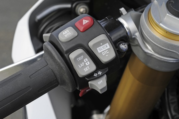 In slick mode you can adjust the traction control (DTC) on the fly.