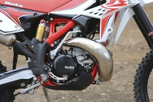 Two-stroke engine has no shortage of power.