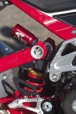 Tech Extrema rear shock is not a easily recognisable name in Australia but it worked well.