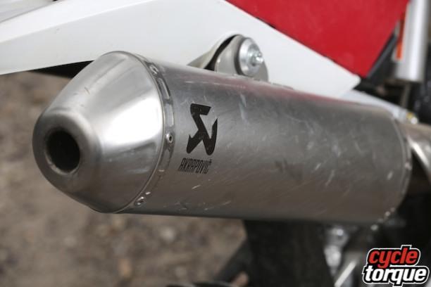 Akrapovic pipe comes standard.