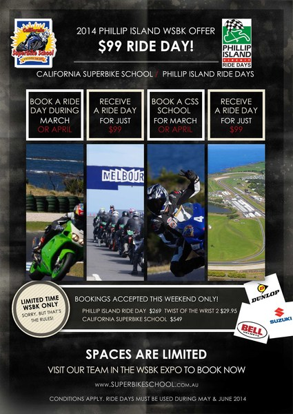 WSBK 2014 Flyer 99 track day - email