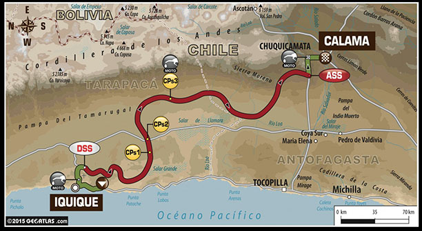Stage 9 Dakar Rally Map