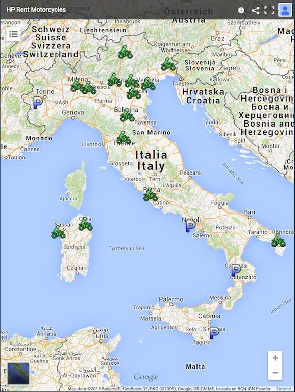 HP Motorrad Locations