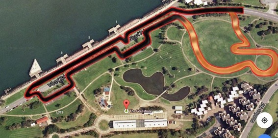 Australian Supermoto Championships track map, Newcastle Harbour, June 13-14