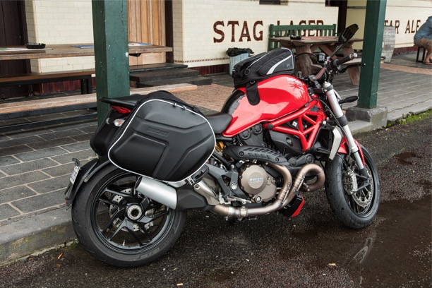 Ducati Monster 1200 Touring Panniers sports two-up pillion