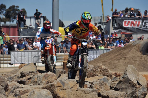 racing at the sydney motorcycle show