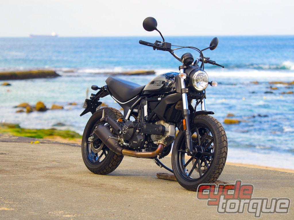 Sixty2 Scrambler Ducati static photo hipster bike test review Bar Beach Newcastle, Australia