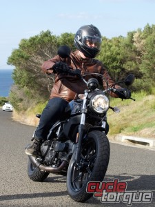 Sixty2 Scrambler Ducati action photo hipster bike test review King Edward Park Newcastle, Australia