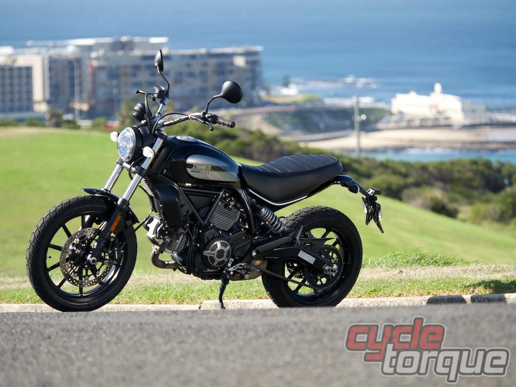Sixty2 Scrambler Ducati static photo hipster bike test review King Edward Park Newcastle, Australia