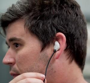 Earmold earplugs custom made with audio speakers multiple colours