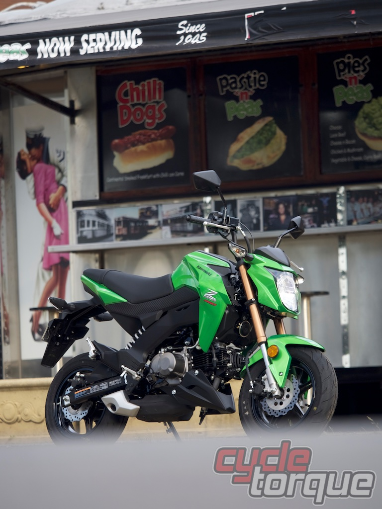 Kawasaki Z125 PRO motorcycle test photo LAMS learner approved