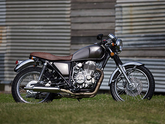 Sol Invictus Nemesis café racer lams learner approved motorcycle side on static photo