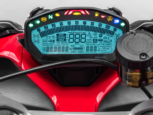 Ducati Supersport instruments