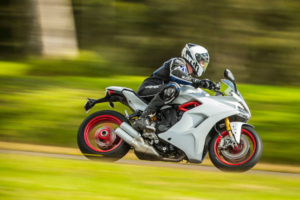 Ducati Supersport australian launch action shot sports tourer motorcycle 2017