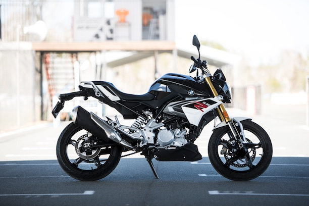 BMW G 310 R side on track image