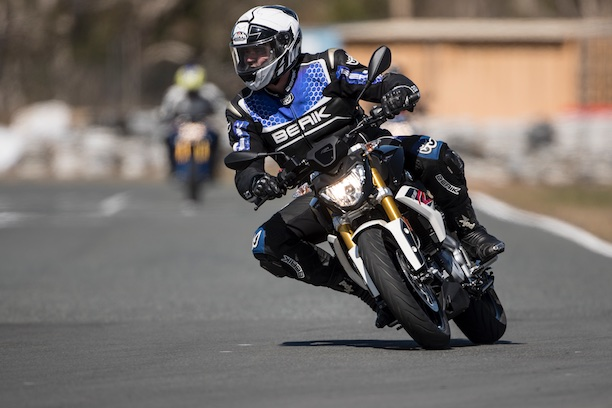 BMW G 310 R head on track