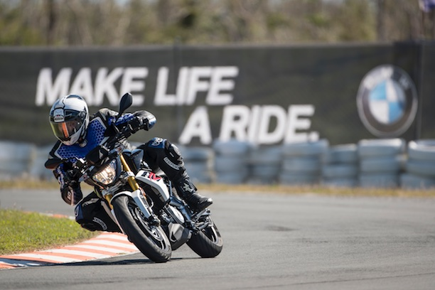 BMW G 310 R action track make life a ride