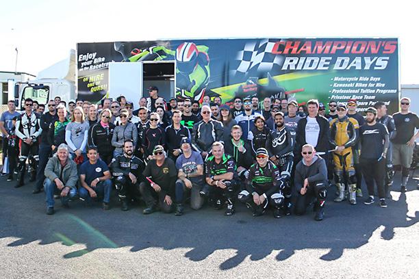 Kawasaki team green ride days group photo 2017 lakeside raceway