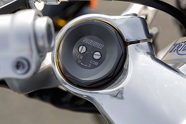Triumph Thruxton front suspension clickers Showa